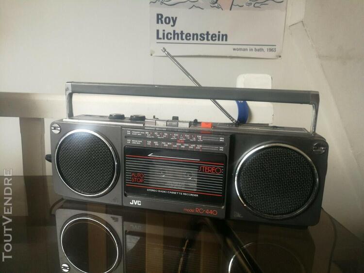 Boombox ghetto blaster jvc rc 440 radio cassette