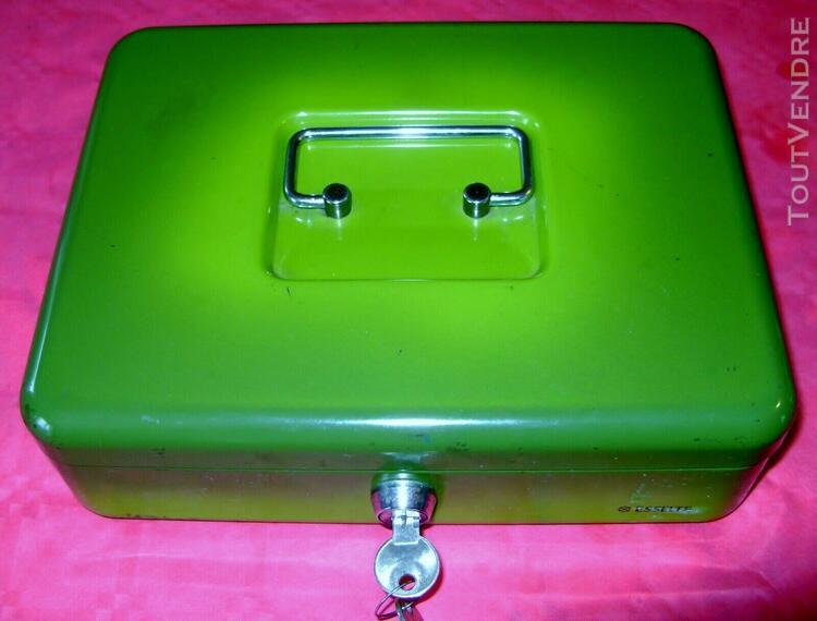 Caisse coffret metal esselte ferme a cle securite range tout