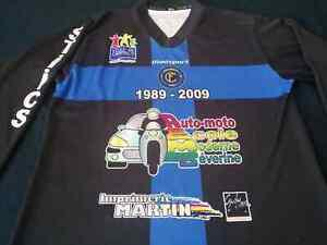 Maillot foot shirt porté worn fc chambly - numéro 9 - dh -