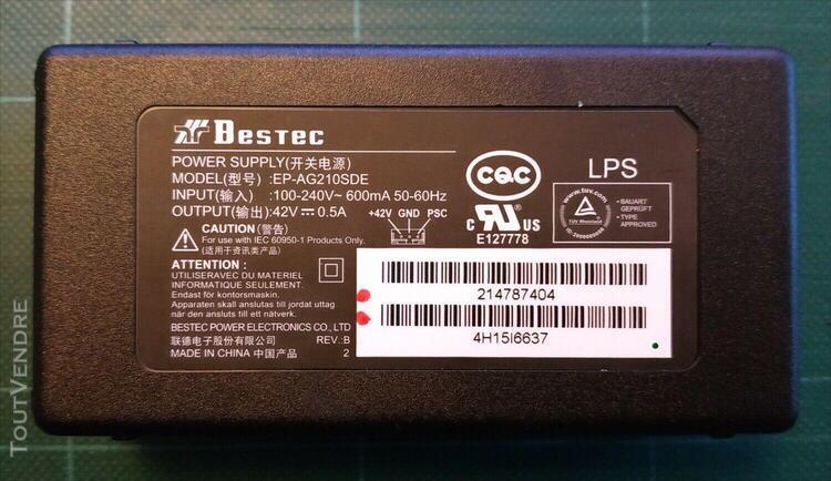 Module alimentation secteur bestec ep-ag210sde pour impriman