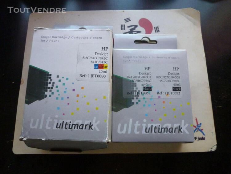 Pack cartouche encre noir + couleur hp deskjet 816c 840c 842
