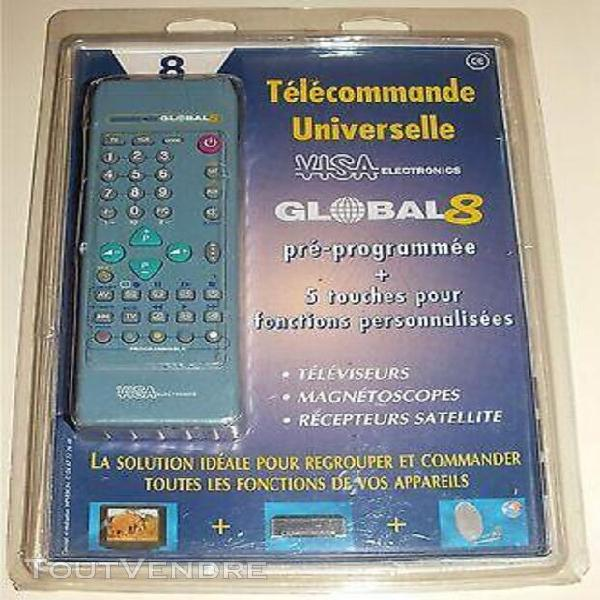 Telecommande - universelle visa global 8 appareils (referenc