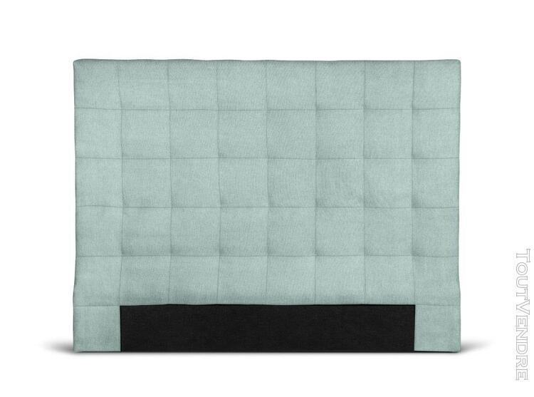 Tête de lit capitonnée en tissu megan - couleur - bleu,