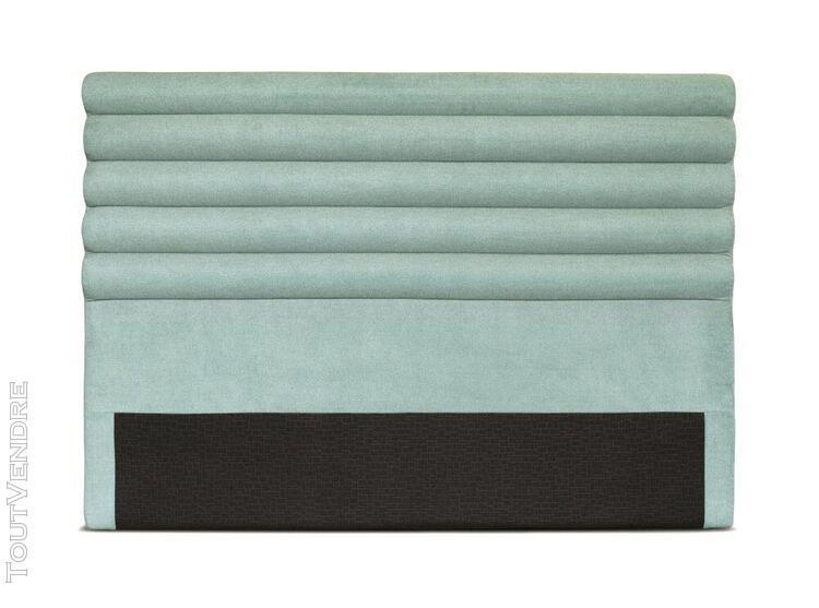 Tête de lit en tissu luca - couleur - bleu, largeur - 140