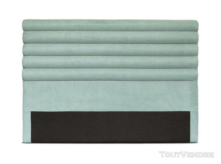 Tête de lit en tissu luca - couleur - bleu, largeur - 160