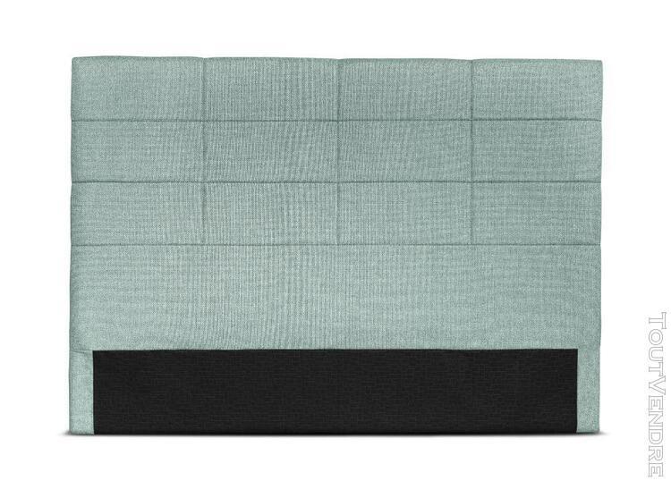 Tête de lit en tissu willy - couleur - bleu, largeur - 140