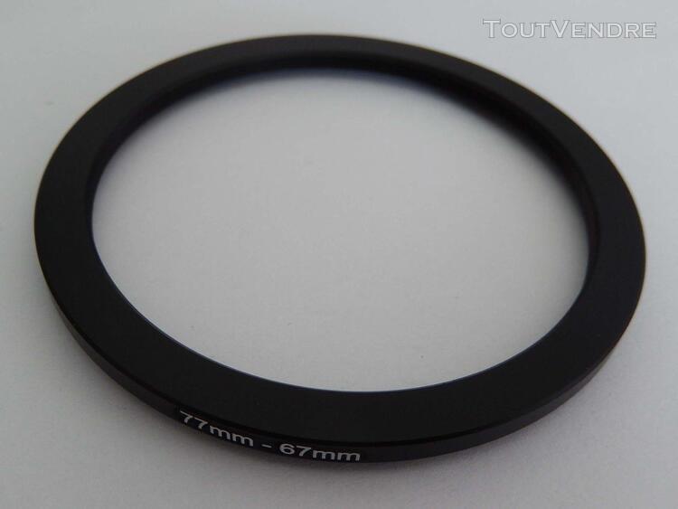 Vhbw bague adaptation filtre step down 77m-67mm noir pour ap