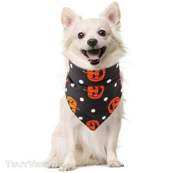 Bandanas pour animaux de compagnie en coton mode halloween