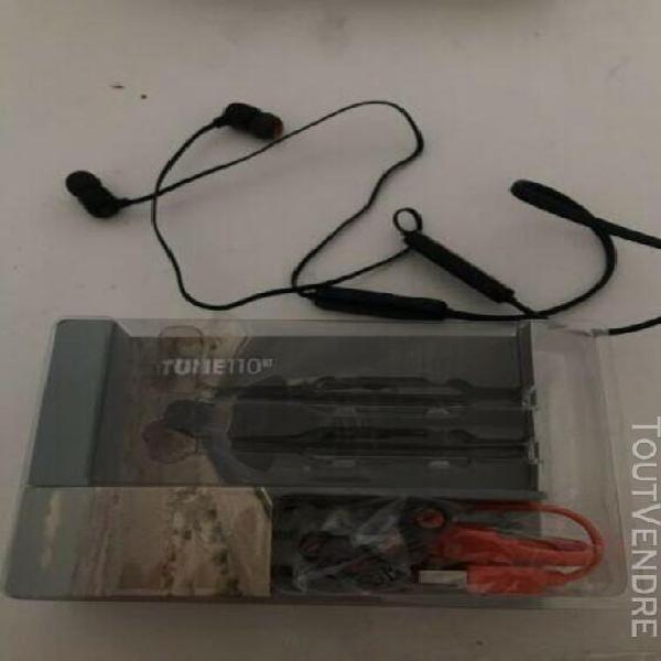 Jbl tune 110 écouteurs pure bass zéro cables bluetooth