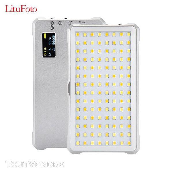 Litufoto f12 mini lampe vidéo à led lumière de