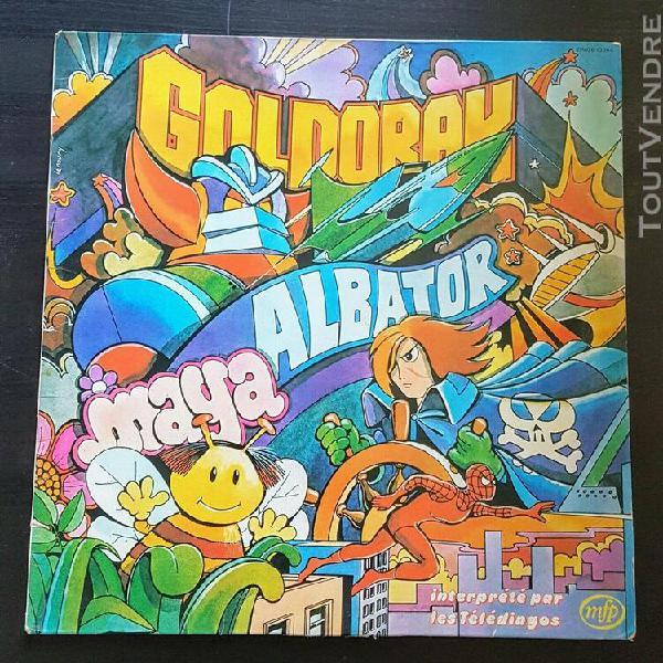 Lp goldorak, albator, maya - teledingo - 2m026-13564
