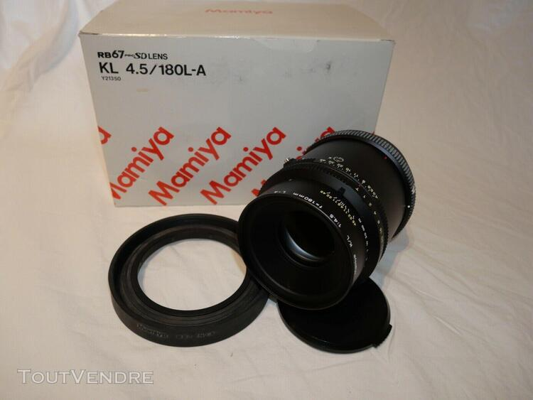 Mamiya k/l 4.5 180 mm l-a rb 67 pro lens objectif avec