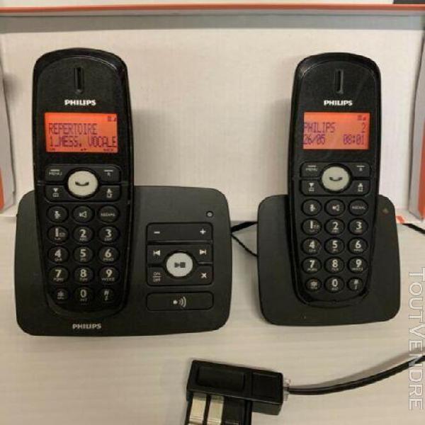 Pack téléphone duo philips répondeur