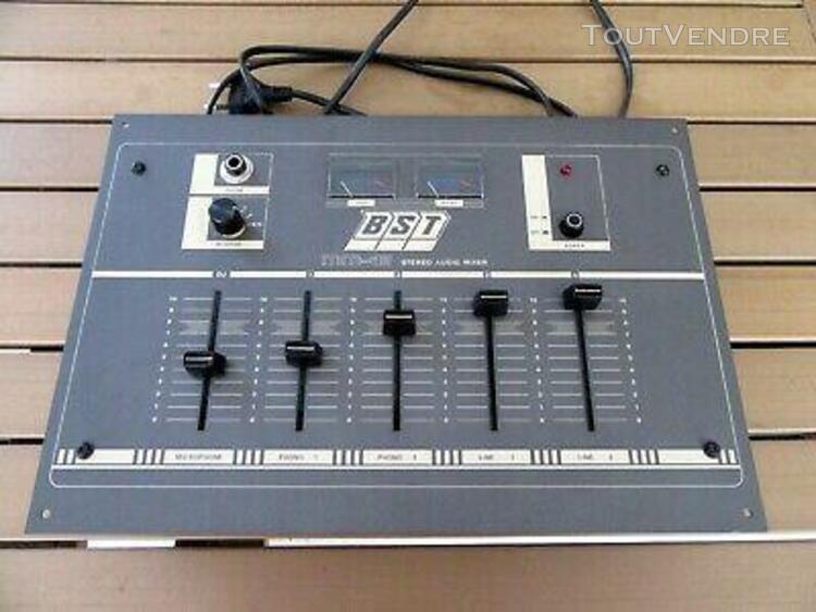 Table de mixage bst mm40 stereo audio mixer vintage bon