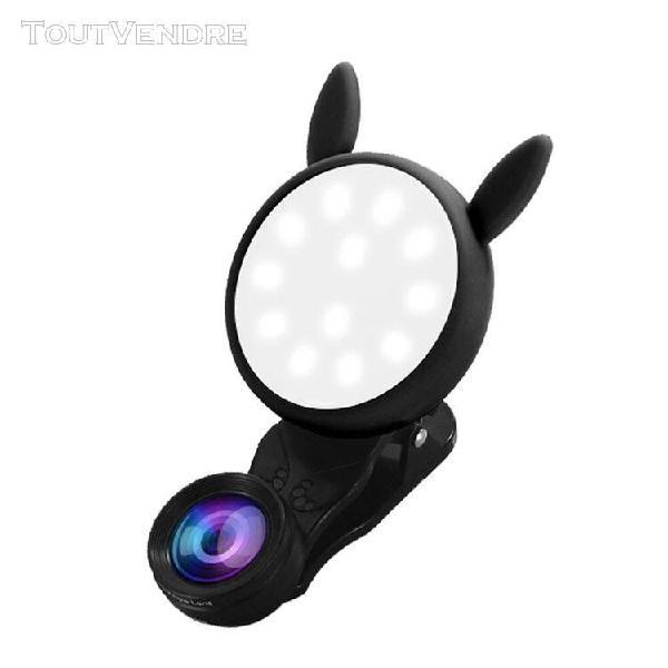 Universal led selfie flash light phone lens fill light 0.62x