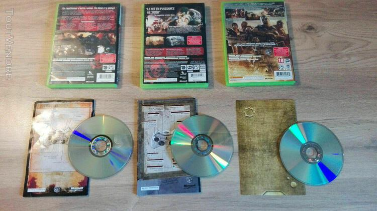 Xbox-360-trilogie-gears-of-wars-1-2-3-fr-complets
