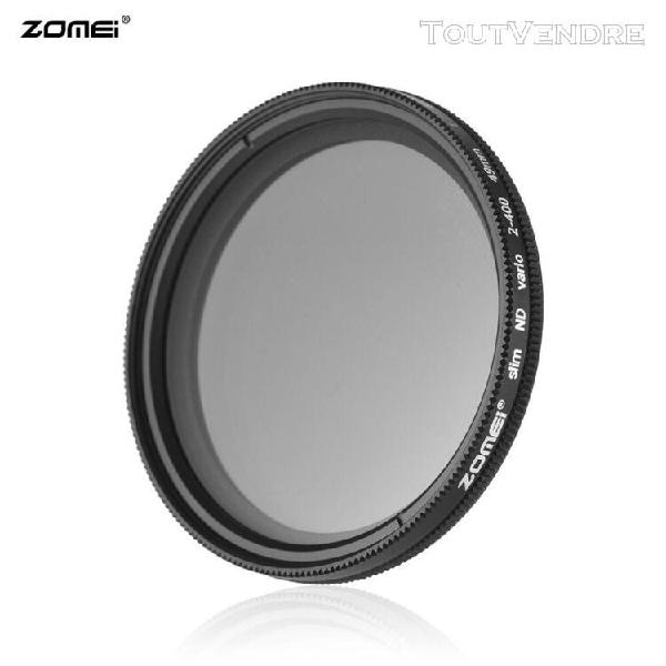 Zomei 49mm ultra slim variable fader nd2-400 filtre nd à