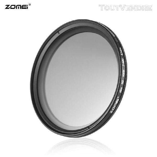 Zomei 62mm ultra slim fader variable nd2-400 filtre nd à