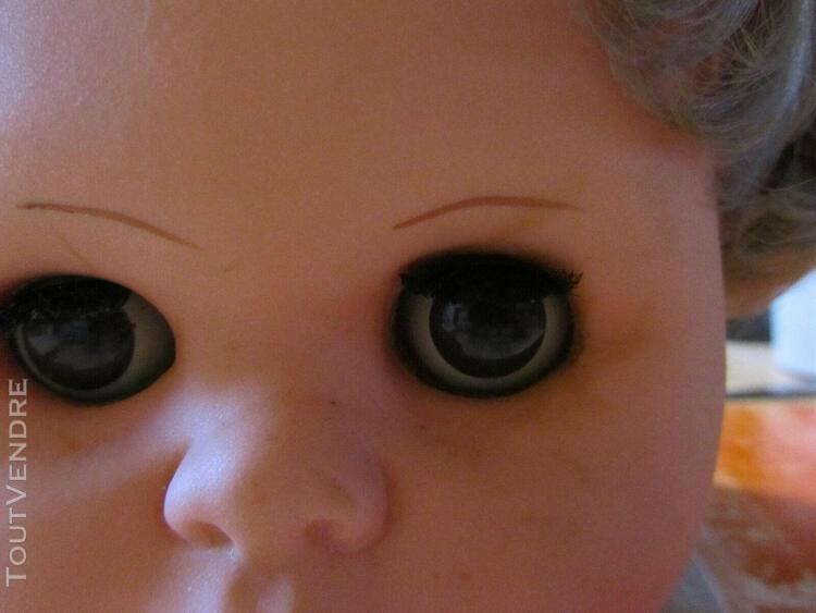 Ancienne tete de poup2e numerotee yeux dormeurs marrons