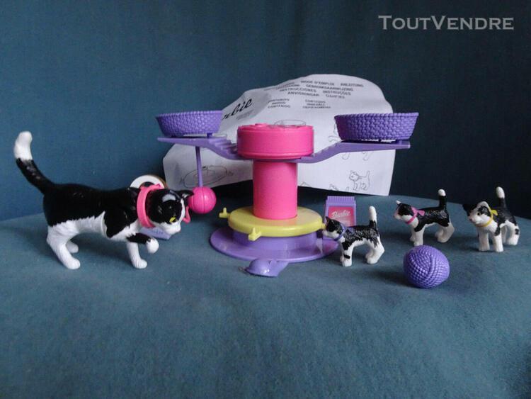 Barbie accessoires chatte et chatons vintage 2001 avec notic