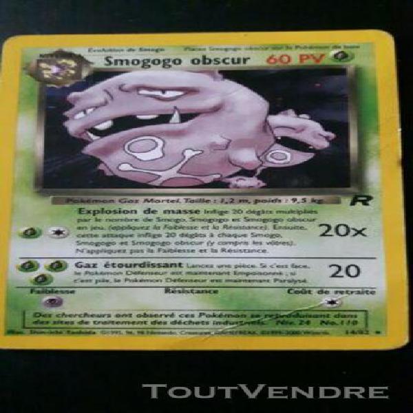 Carte pokémon smogogo obscur 14/82 occasion holo team rock