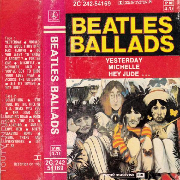 "K 7 audio (tape) beatles ""beatles ballads"""