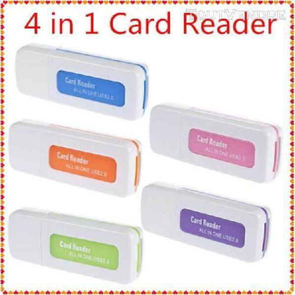 Lecteur de carte mémoire 4-en-1 - sd tf t-flash m2 - usb