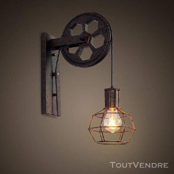 Madkanao e27 vintage rétro loft style industriel métal art