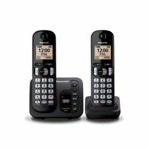 Panasonic téléphone dect duo noir avec répondeur