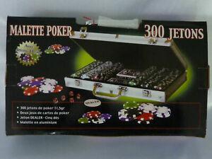 Promo malette poker 300 jetons 11,5 g valise alu carte