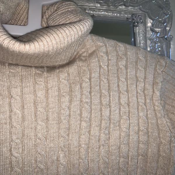 Pull col roulé manches longues chandail en tricoté neuf,