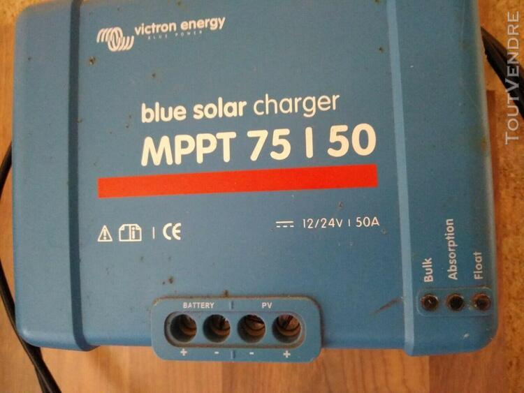 Régulateur de charge solaire mppt victron 75/50a+ ve.