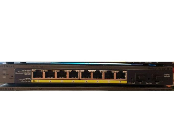 Switch netgear gs110tp-200eu gigabit poe manageable 8 ports