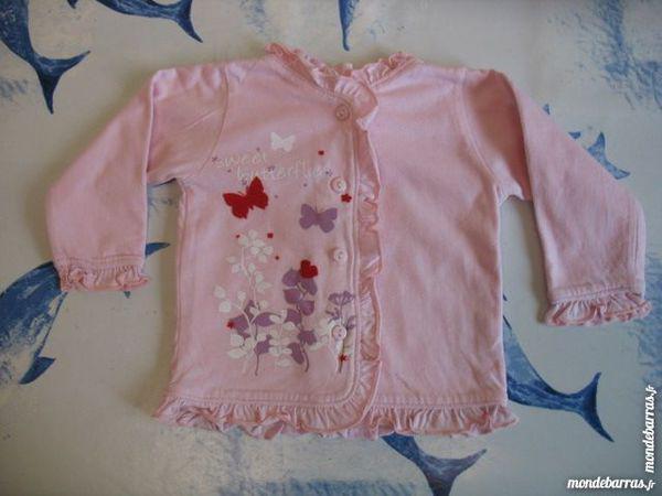 Tee shirt ou gilet rose fille «tissaia» - 6 mois occasion,