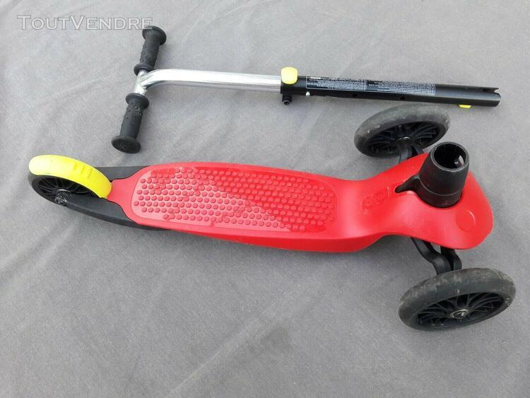 Trottinette rouge enfant b1 oxelo- 3 roues- bon etat