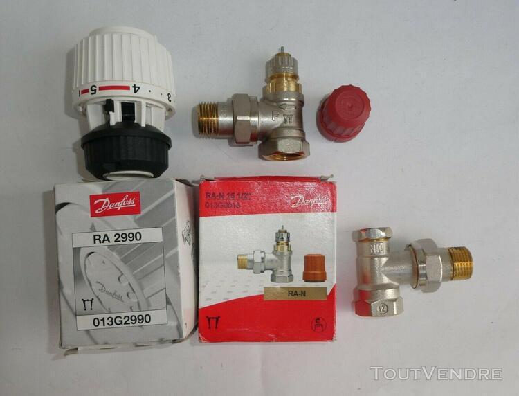 Tête de robinet thermostatique danfoss ra 2990 blanc +