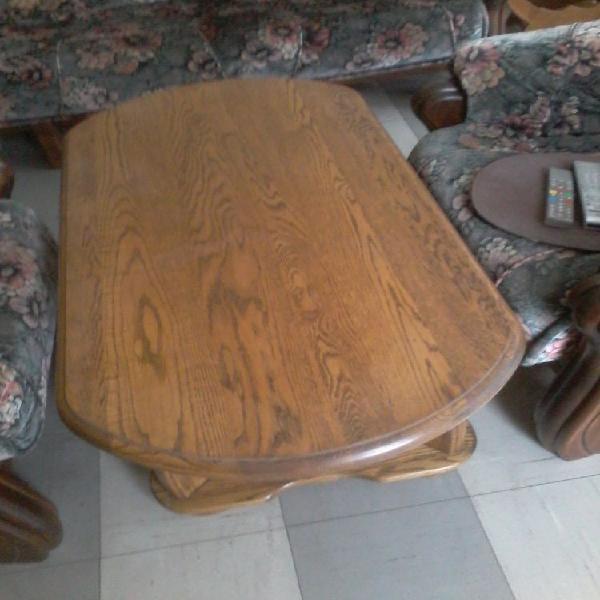 Table de salon en bois massif chêne clair neuf, tourcoing