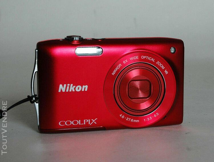 Compact numérique nikon coolpix s 3300 - rouge en parfait