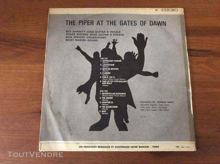 Pink floyd - the piper at the gates of dawn - vinyle - vg+/v