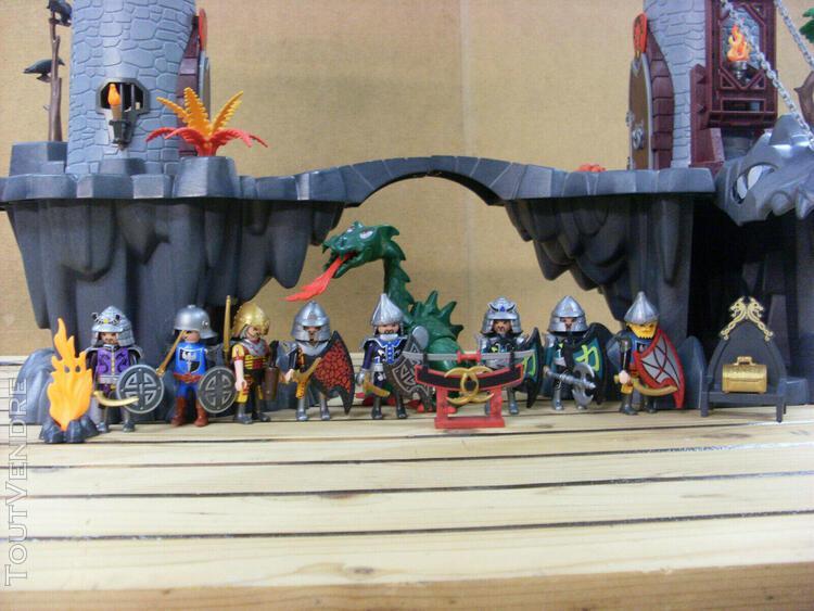 Playmobil grande tour des samourais dragon chevalier chatea