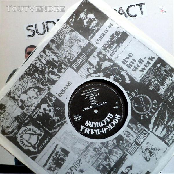Sud** impact lp storm rare uk skinhead punk oi! 1989 ror ori
