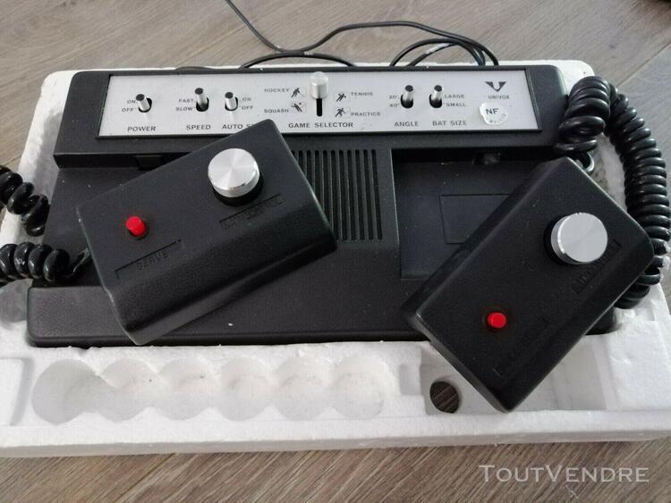 """Ancienne console complete vintage univox """"jeux vidéo"""" boite"""