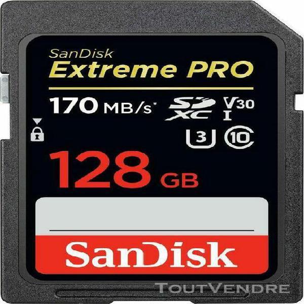 Carte mémoire sdxc sandisk extreme pro 128 go jusqu'à 170