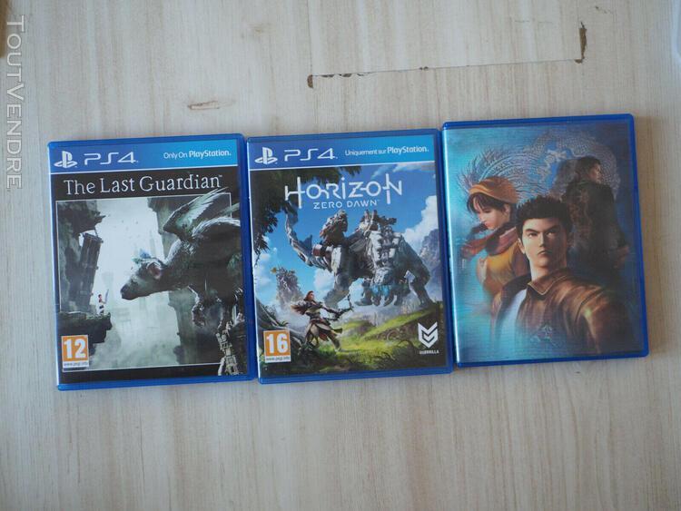 Console playstation 4 slim 500go + 3 jeux + 2 manettes état