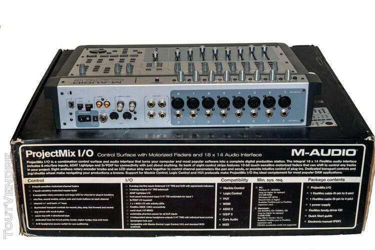 M-audio projetmix i/o - protools motorized faders interface
