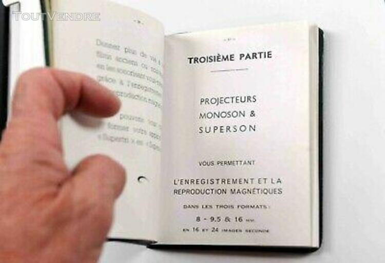 Manuel proj.heurtier tous modèles- 64 pages (1955)