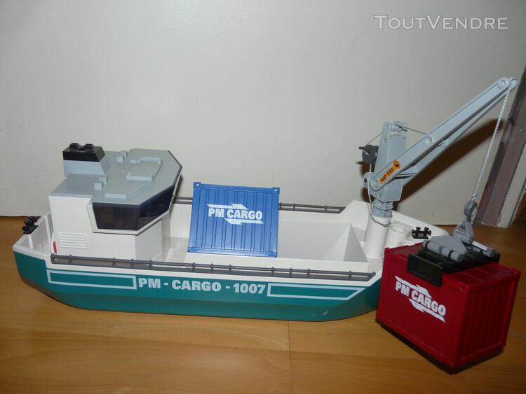 Playmobil 5253 bateau cargo avec grue de chargement