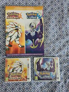 Pokémon lune et pokémon soleil 3ds + guide officiel