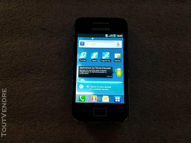 Téléphone portable samsung galaxy ace gt-s5830 noir