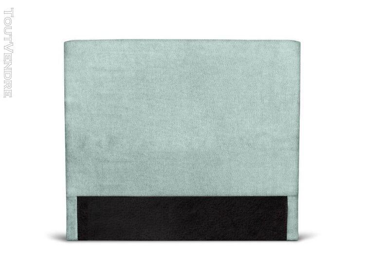Tête de lit lisse en tissu numa - couleur - bleu, largeur -